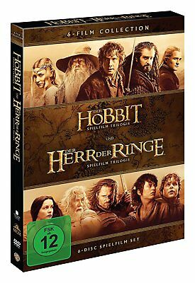 MITTELERDE Collection HERR DER RINGE + DER HOBBIT Trilogie 6 DVD Complete Box ()