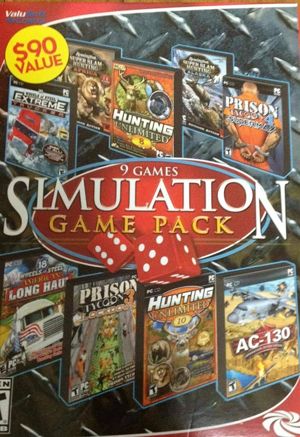 Computer Games - 9 Games Simulation Game Pack PC Games Windows 10 Sealed Computer Games Sim Pack
