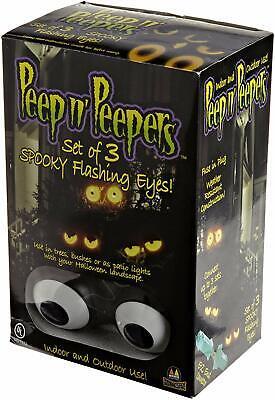 Peep N Peepers Halloween Lights (Peep n Peepers Set of 3 Spooky Flashing Eyes Halloween String Lights)