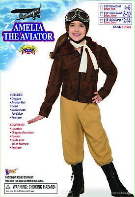 Forum Neuheiten Amelia Earhart The Aviator Kinder Halloween Kostüm (Kinder Aviator Kostüm)