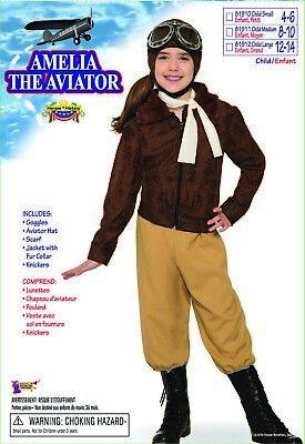 Forum Novelties Amelia Earhart The Aviator Childrens Halloween Costume - Amelia Earhart Costume For Girls