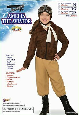 Child Amelia Earhart Aviator Costume Book Report Wax Museum Size Medium 8-10 (Amelia Earhart Costume For Girls)