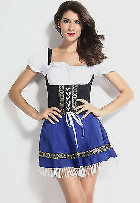Plus Size German Beer Girl Costume Oktoberfest Heidi Wench Fancy Dress - Beer Wench Costume Plus Size