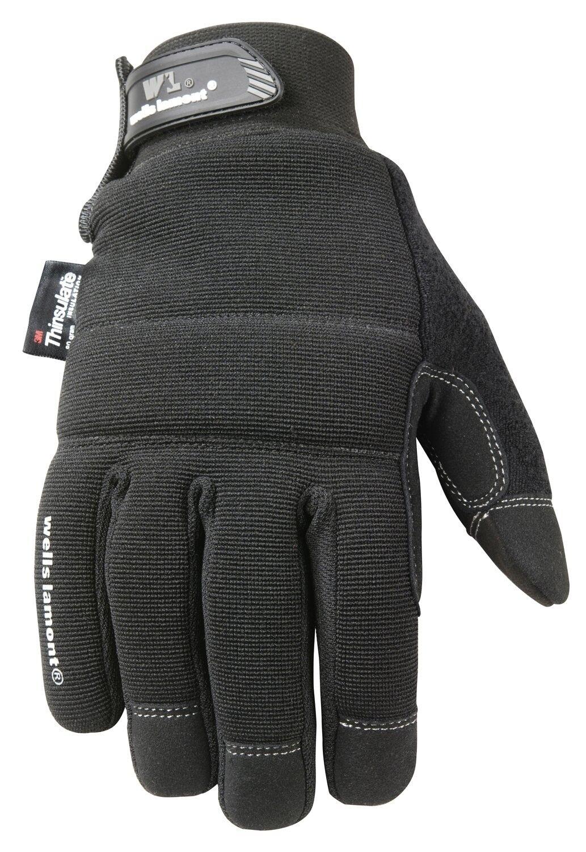 Black Winter Gloves, TouchScreen, 80-gram Thinsulate Insulat