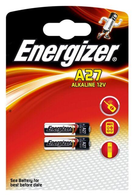 2x Energizer A27 12V Alkaline Batteries 27A MN27 GP27A E27A EL812 Battery