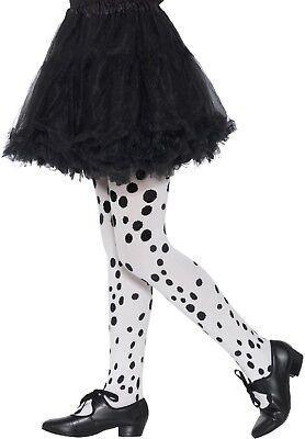 Mädchen Dalmatiner Bösewicht Schwarz Weiß Karneval Film TV Kostüm - Dalmatiner Kostüm Halloween