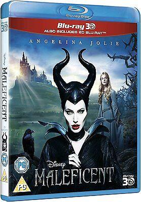 Maleficent 3D   2D Angelina Jolie Blu Ray Disney New Free Ship