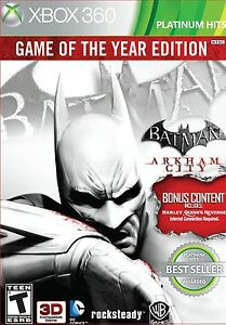 BATMAN: ARKHAM CITY - (GOTY EDITION)  (Xbox 360, 2012) (8842)