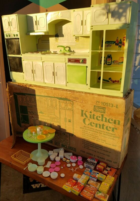 """Vintage Sears Kitchen Center lime green 29""""x16"""" model #79-10513L used with box"""