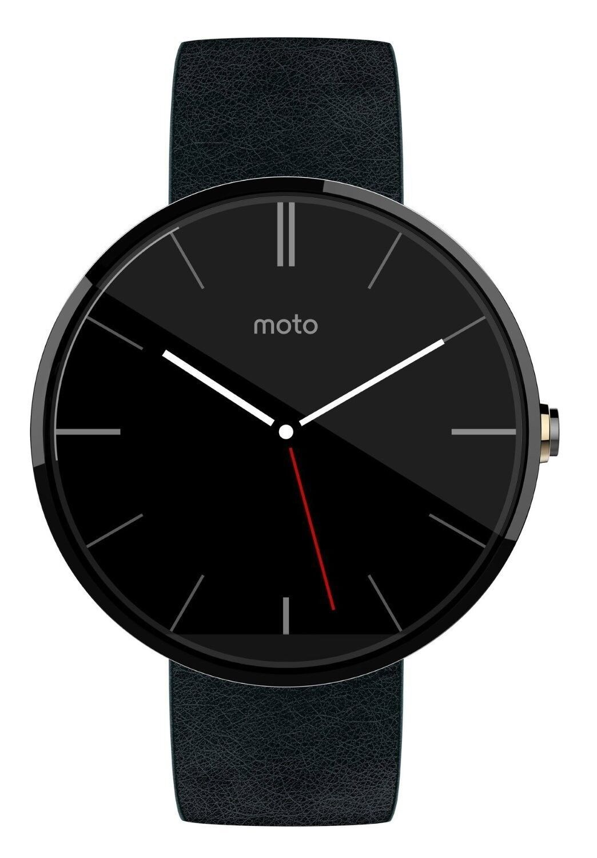$74.00 - Motorola Moto 360 Smartwatch w/ 22mm Leather Wrist Band - Black Smart Watch