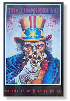 THE OFFSPRING AMERICANA UNCLE SCAM SAM IMAGE 1999 WALL POSTER NEW NOS SEALED