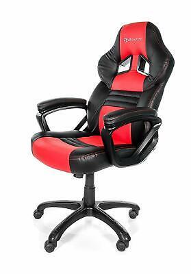 Arozzi Monza Swivel Gaming Chair 270 Lbs. Max Capacity Blackred
