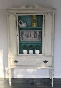 Farmhouse Style cabinet with chicken wire