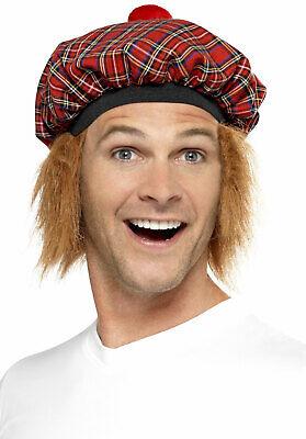 Schottische Mütze mit Haaren NEU - Karneval Fasching - Schottische Mütze