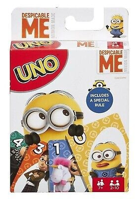 Despicable Me UNO Card Game Mattel Games Kids Minions Party Adults Gru New - Despicable Me Party Games