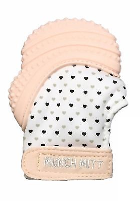 Munch Mitt Pastels Specialty Collection - Silicone Teether Mitten Pastel Pink