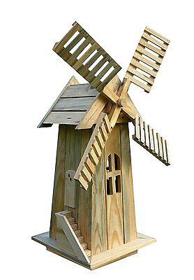 Decorative Garden Windmill Lawn Ornament Wooden Yard Cedar Durable Holland New