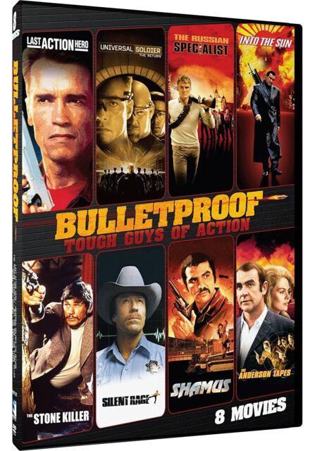 BULLETPROOF: TOUGH GUYS OF ACTION 8 FILMS : SWARZENEGGER VAN DAMME DVD R1