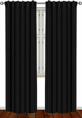 Window Curtains Blackout Room Thermal Insulated 2 Panels 52x84