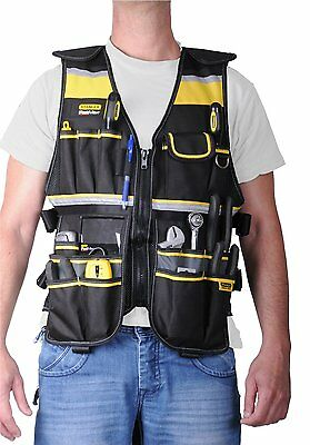 Electrician Tool Vest Carpenter Plumber Construction Organizer Bag Adjustable