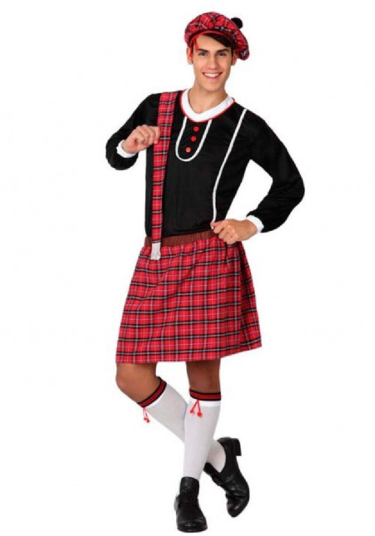Da Donna Tartan Scozzese Costume Donna Hen Night Stag Do Fancy Dress Party Vestito
