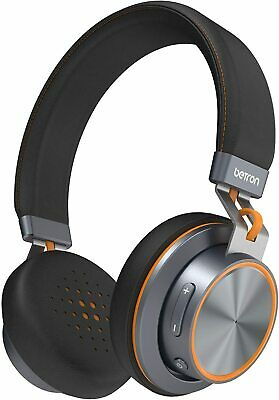 Wireless Bluetooth Headphones Betron S2 On Ear Headset Buil In Mic Heavy Bass UK