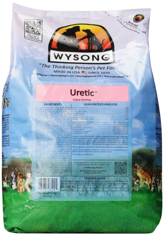 Wysong Uretic Feline Dry Diet, 5-Pound , New, Free Shipping