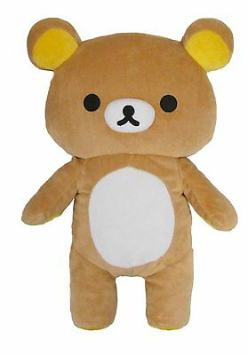 Brown Rilakkuma Medium Relaxed Japanese Teddy Bear Stuffed Animal Plush Toy