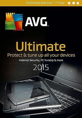 Nib  Avg Ultimate 2015 Unlimited Devices   1 Year   Free Upgrade To 2018
