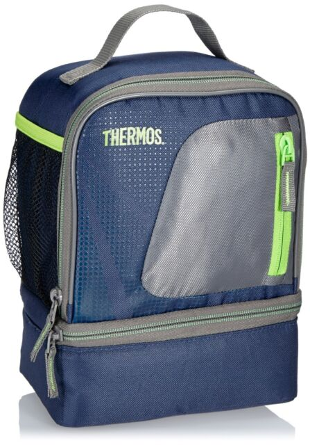 THERMOS RADIANCE BLUE DUAL COMPARTMENT FOOD LUNCH BAG BOX