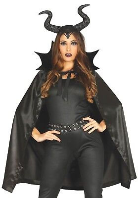 Ladies Scary Halloween Black She Devil Fancy Dress Costume Outfit Accessory (Black She Devil Kostüm)