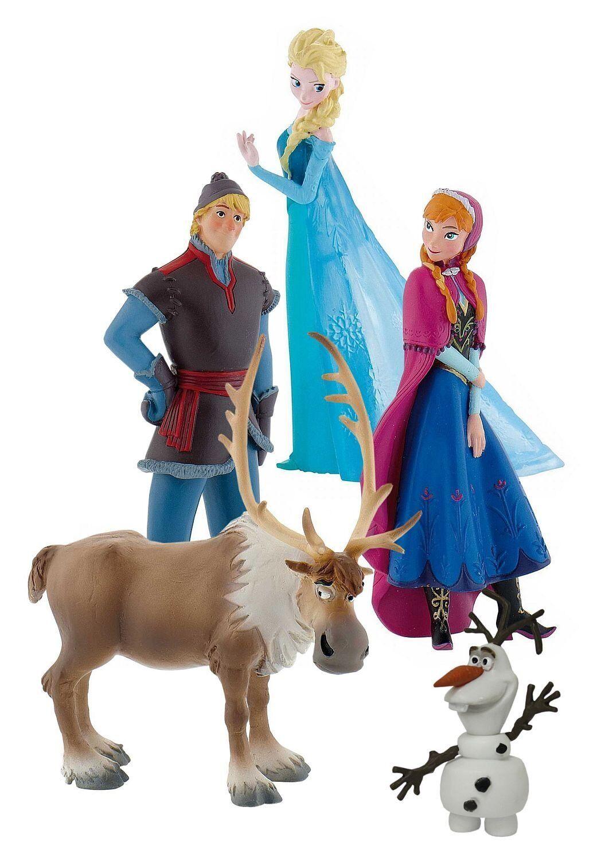 Bullyland Disney´s Die Eiskönigin Mini Figuren Olaf, Kristoff, Anna, Elsa, Sven