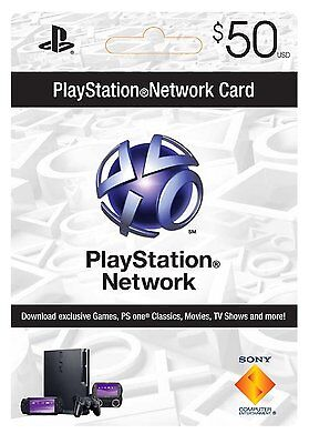 $50 Playstation Network Card for PSN PSP PS3 *NEW* on Rummage