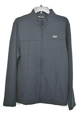 Travis Mathew Mens Black Front Zip Stand Collar Long Sleeve Koozie Jacket M