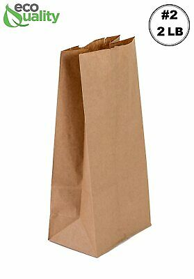 Small Size Kraft Paper Lunch Bags Grocery Bags Size Pack Of 500 Bags Brown 2l