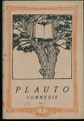 PLAUTO COMMEDIE 3 VOLL. ISTITUTO EDITORIALE ITALIANO ANNI '30 IMMORTALI 66-67-68