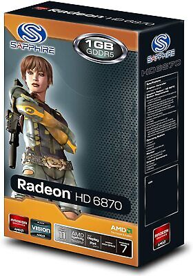 SAPPHIRE AMD RADEON HD 6870 / 1GB DDR5 / PCI-E / sorties HDMI + DP + DVI(2X)