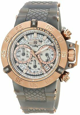 Ladies Invicta 24380 Subaqua Noma III Quartz Rose Gold,Grey Silicone Band Watch