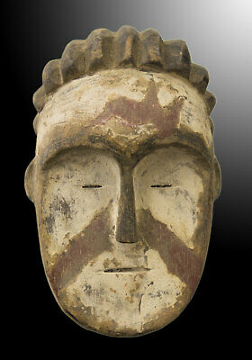 Mask Pasport Diminutive African Mitsogho Gabon Wood 13cm Art First 16704