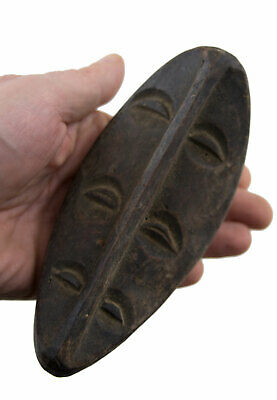 Mask African Masquette Kwele 6 Eyes Gabon 17cm Miniature Art First 16832