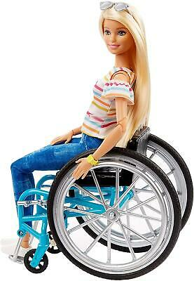 Barbie Blonde Doll and Wheelchair GGL22