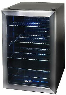 Lighted Beverage Mini Cooler Refrigerator 90 Can Fridge Glass Soda Beer Wine for sale  Egg Harbor City