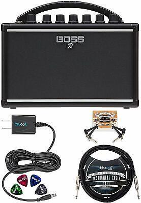BOSS Katana Mini Guitar Amplifier Bundle with Hosa 5-FT Straight Instrument Cabl