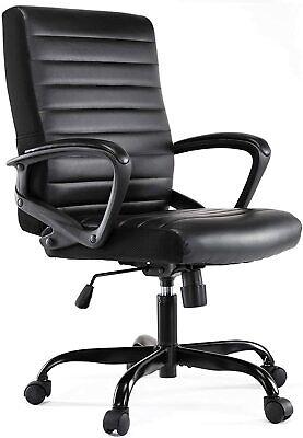Ergonomic Office Chair Pu Leather High Back Executive Computer Desk Task Black