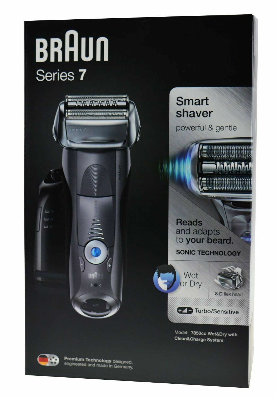 BRAUN Series 7 - 7850cc wet&dry Rasierer Grau (Sonic-Technologie) NEU OVP