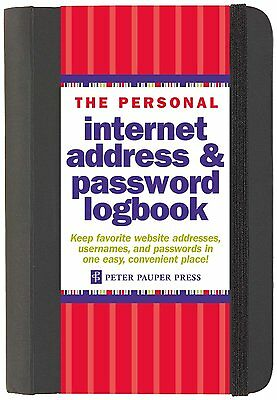 The Personal Internet Address and Password Log Book, Hardcover-Spiral, New on Rummage