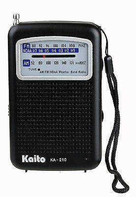 Kaito Ka210 Portable Am Fm Noaa Weather Radio   Black