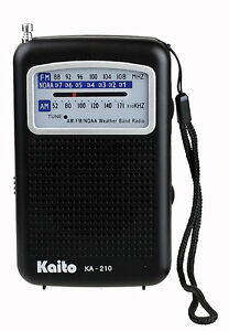 Kaito-KA210-Portable-AM-FM-NOAA-Weather-Radio-Black