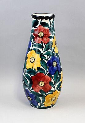 Keramik Vase Schramberg Eva Stricker handgemalt Floraldekor 99845283