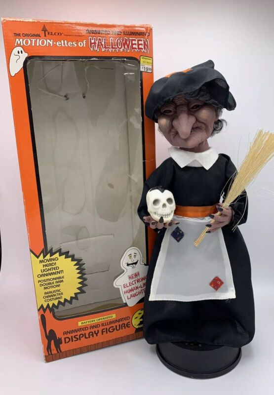 Vintage TELCO Witch Motionettes of Halloween #92180 Animated Decoration Figure